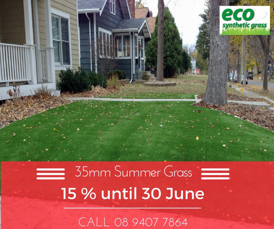 15% off summer artificial grass