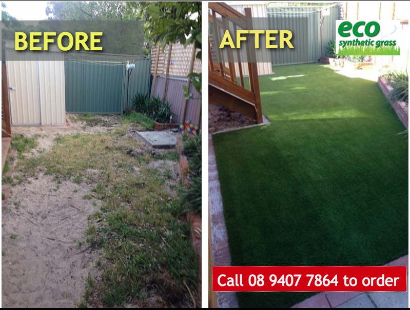 Artificial grass quote Perth - before and after job