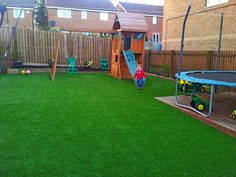 Artificial grass play areas is comfortable