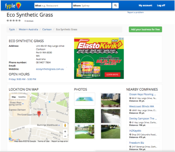 Fyple Perth Landscape Directories - Eco Synthetic Grass